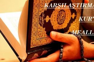 Karşılaştırmalı Kur'an Mealleri
