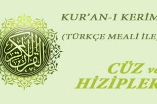 Türkçe cüz ve hizipler