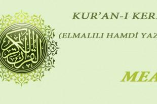 Elmalılı Hamdi YAZIR Kur'an MEALİ