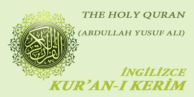 The holy Quran (İngilizce Kur'an)