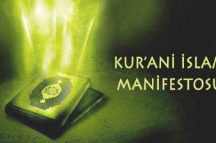 Kur'ani İslam manifestosu